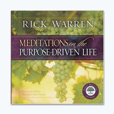 best-christian-books-Meditations-on-the-Purpose-Driven-Life-rick-warren